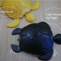 Small Turtle with moving legs 3D Printing 22521