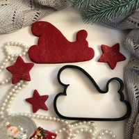 Small Coockie Cutter - Santa Sled 3D Printing 225238