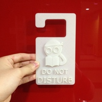 Small Door hanger 1 - Do Not Disturb 3D Printing 22527