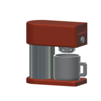 Small coffee maker 1/10 3D Printing 225275