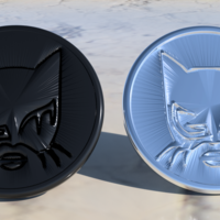 Small Catwoman coaster pair 3D Printing 225434