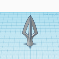 Small Four headed Arrowhead 3D Printing 225514