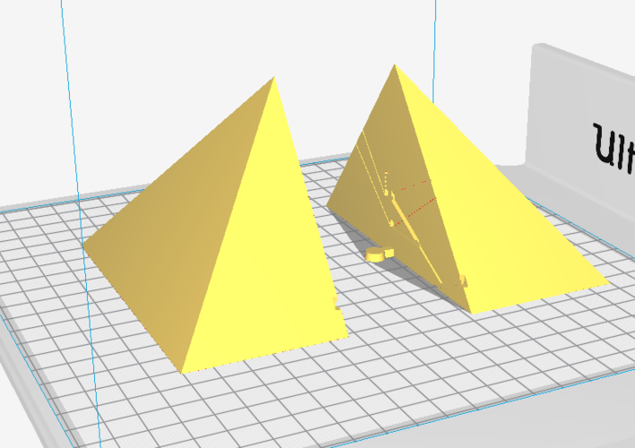 Great Pyramid of Giza 1:2000 Scale Model 3D Print 225527