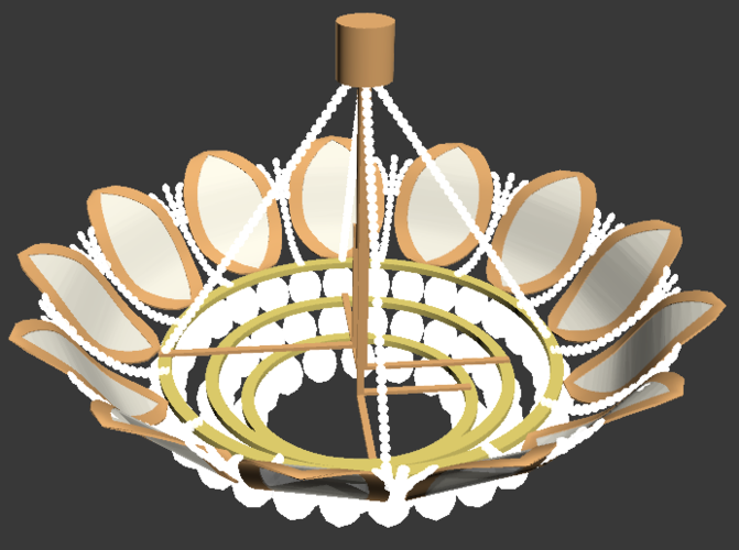 Fancy Chandelier 3D Print 225546