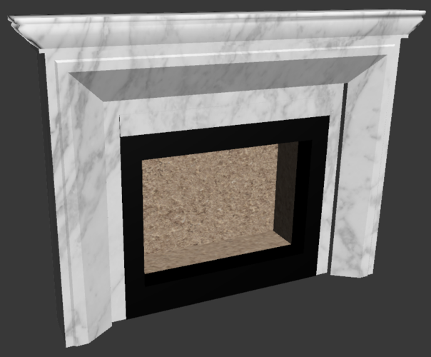 Classic Fireplace 3D Print 225555