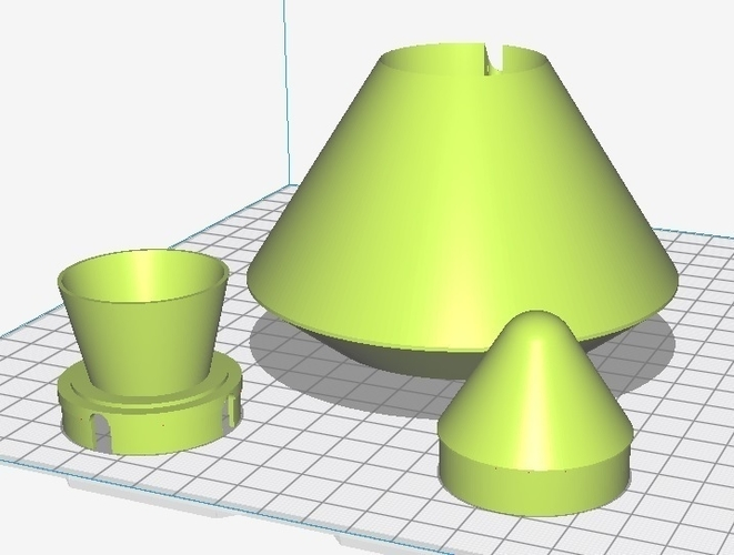 "Estes Plastic parts for ""Outlander"" Rocket 3D Print 225583"