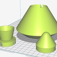 "Small Estes Plastic parts for ""Outlander"" Rocket 3D Printing 225583"