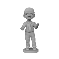Small Middle Age Man 3D Printing 225590