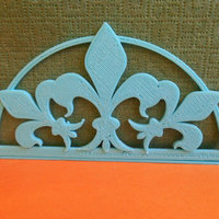 "Small Stand for napkins ""Fleur De Lis""  3D Printing 22560"