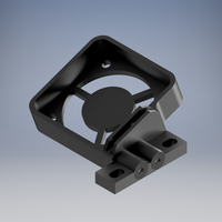 Small Top Fan Holder for buggy XRay XB4. 3D Printing 225611