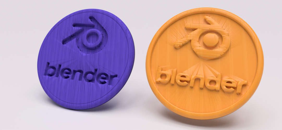 Blender drinkcoaster set 3D Print 225638