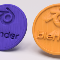 Small Blender drinkcoaster set 3D Printing 225638