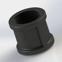 Small Practice 3D. P4. Pipe coupling 3D Printing 225668