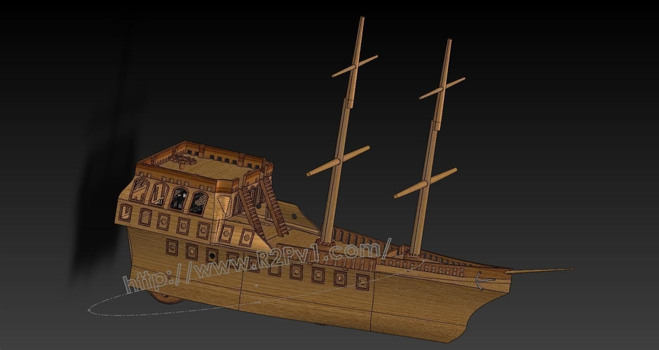 Pirate Ship Kit 3D Print 225768