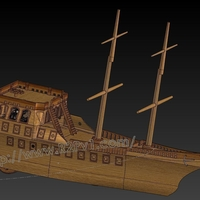 Small Pirate Ship Kit 3D Printing 225768