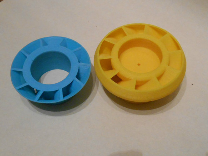 Diagonal compressor for UAV (UFO) 3D Print 22581