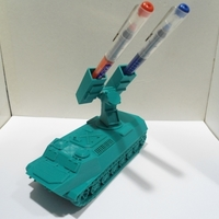 Small Missiles Launcher Pen & Pencil holder M2 3D Printing 225831