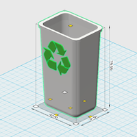 Small recycle bin 1/10 3D Printing 225856