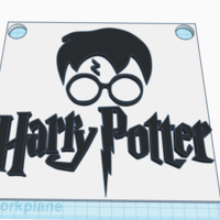 Small Harry Potter Wall Art 3D Printing 226009