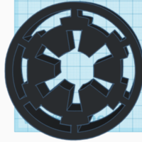 Small The Empire From Star Wars Logo 3D Printing 226019