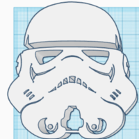 Small Star Wars Storm Trooper Symbol 3D Printing 226021