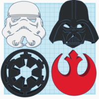 Small Star Wars Logo's 3D Printing 226023