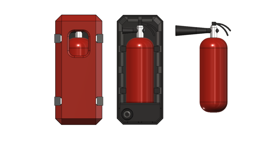 fire extinguisher with box 1/10 3D Print 226030