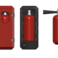 Small fire extinguisher with box 1/10 3D Printing 226030