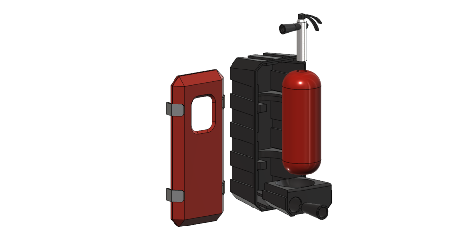fire extinguisher with box 1/10 3D Print 226031