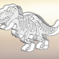 Small Dinosaurs Tyrannosaur-stamp- Cookie cutters-100mm (Free) 3D Printing 226120