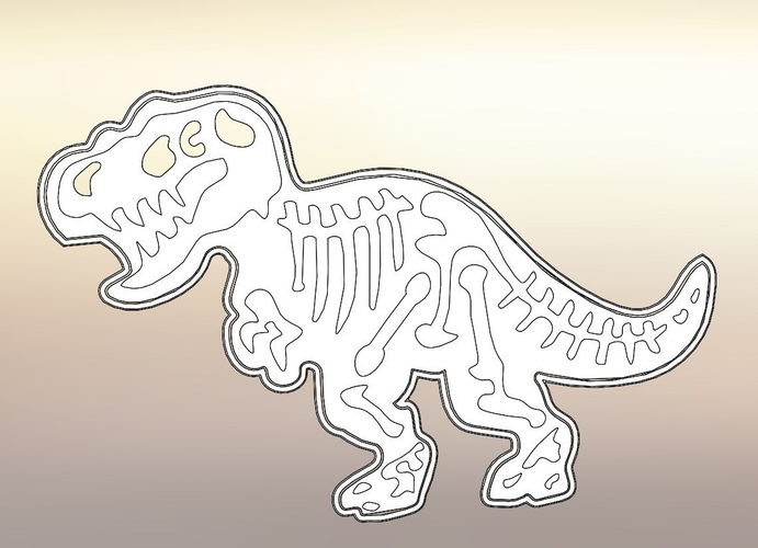 Dinosaurs Tyrannosaur-stamp- Cookie cutters-100mm (Free) 3D Print 226121