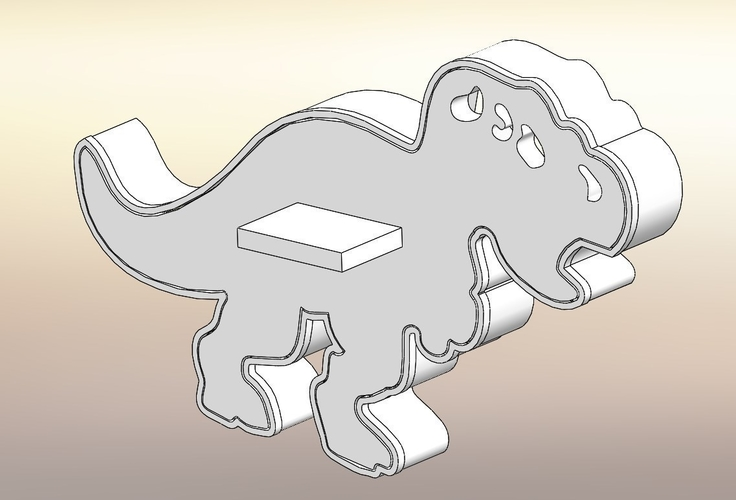 Dinosaurs Tyrannosaur-stamp- Cookie cutters-100mm (Free) 3D Print 226122