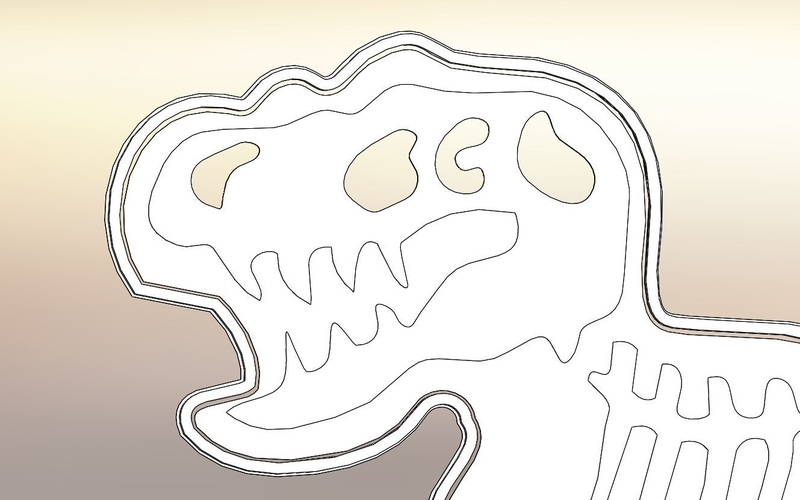 Dinosaurs Tyrannosaur-stamp- Cookie cutters-100mm (Free) 3D Print 226123
