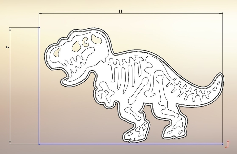 Dinosaurs Tyrannosaur-stamp- Cookie cutters-100mm (Free) 3D Print 226124