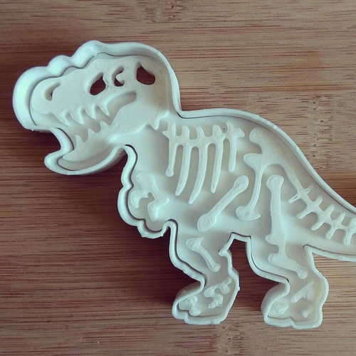 Dinosaurs Tyrannosaur-stamp- Cookie cutters-100mm 3D Print 226125