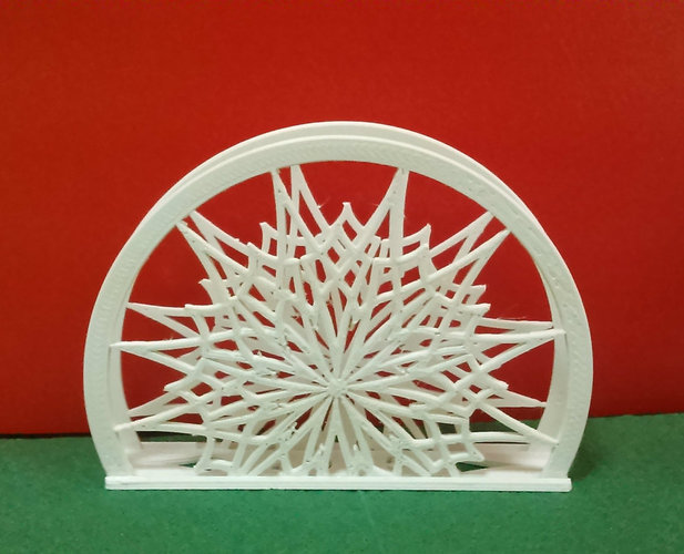 "Stand for napkins ""Snowflake"" 3D Print 22618"