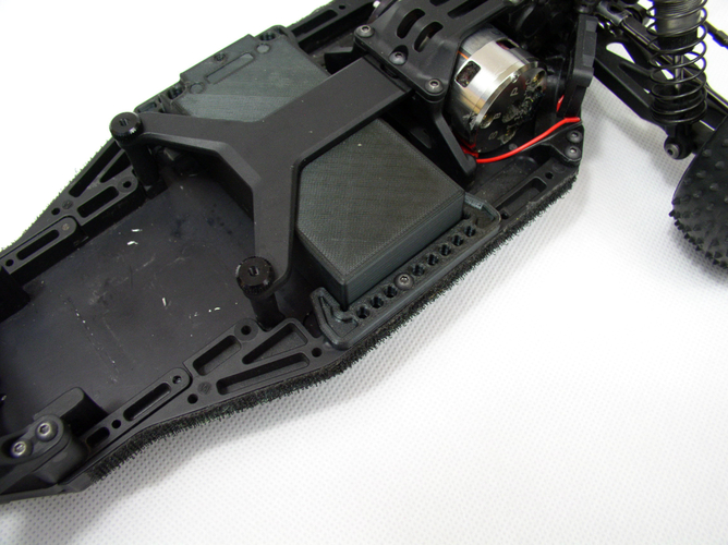 Battery holder for buggy XB2C 3D Print 226226