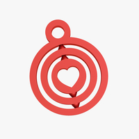 Small Heart symbol keychain 3D Printing 226368
