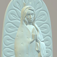 Small OUR LADY OF GUADALUPE 3D Printing 226395