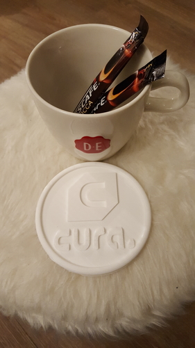 Cura drinkcoaster set 3D Print 226429