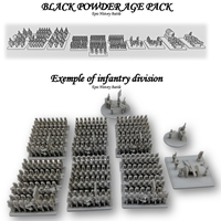 Small EpicHistoryBattle - Black powder age INFANTRY - 6mm figure 3D Printing 226454