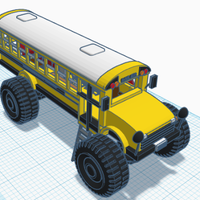 Small Monstor bus home 3D Printing 226464
