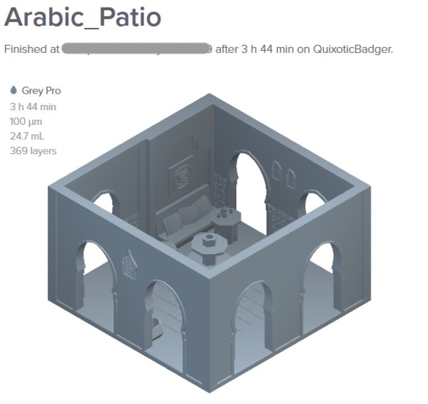 Medium Arabic Patio 3D Printing 226485