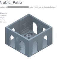 Small Arabic Patio 3D Printing 226485