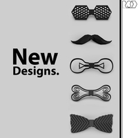 Small Full  collection of 5 bow ties  3D Printing 226508