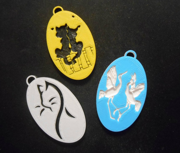 Medium Pendants 2 3D Printing 22652