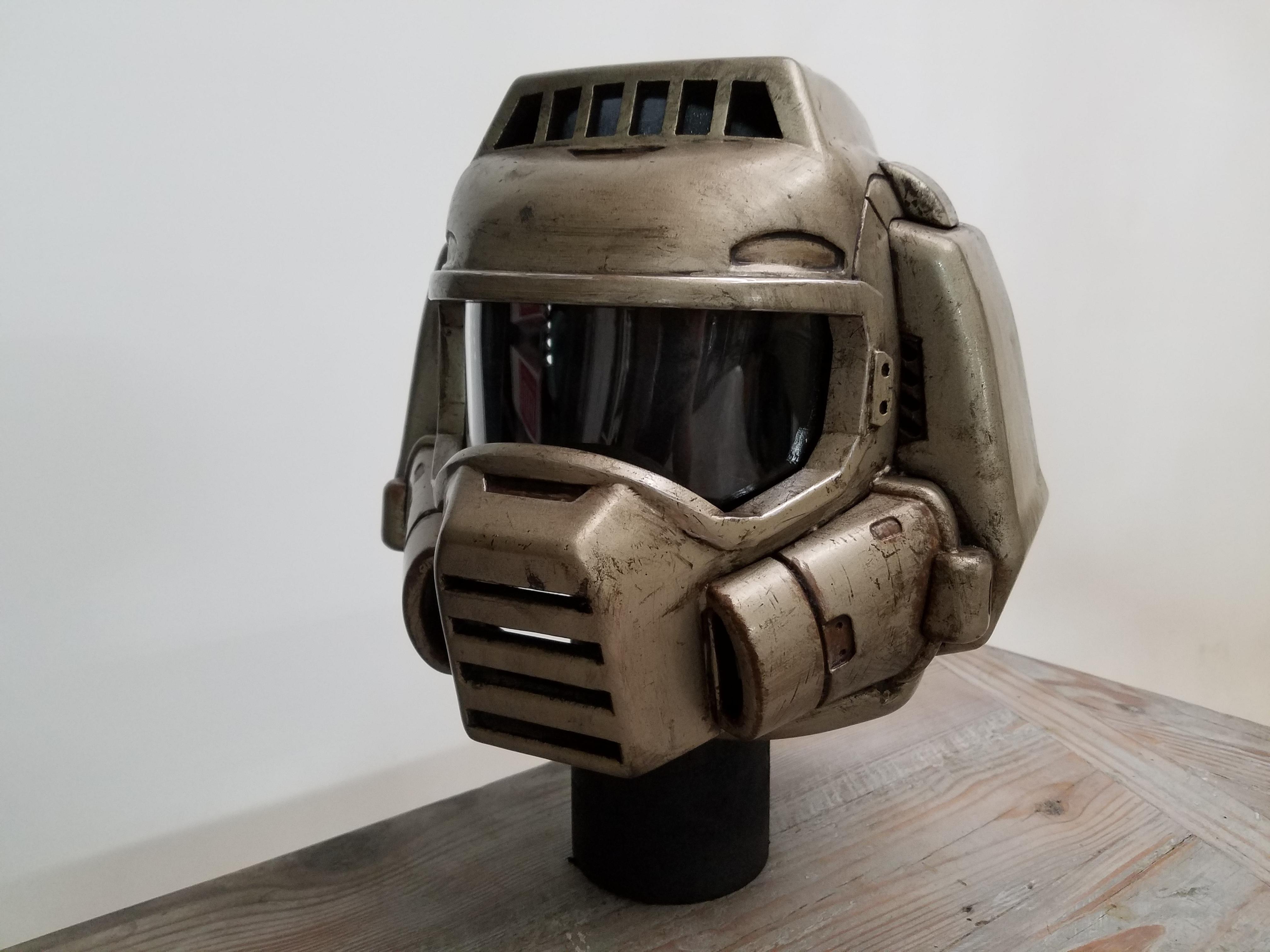 3d Printed Classic Doom Guy Helmet By Michelle Sleeper Pinshape