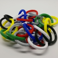 Small Split Rings for Magician's Chain 3D Printing 226563
