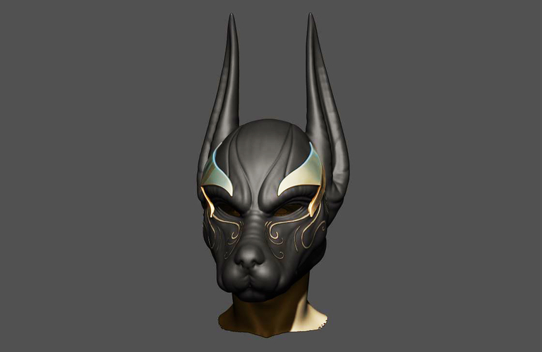 Anubis Helmet For Cosplay 3D Print 226597
