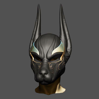 Small Anubis Helmet For Cosplay 3D Printing 226597
